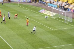 Manny Oyeleke scores the second goal (Port Vale v Northampton Sept 15 2018)